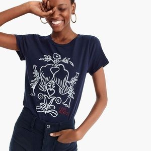J.Crew love birds T-shirt